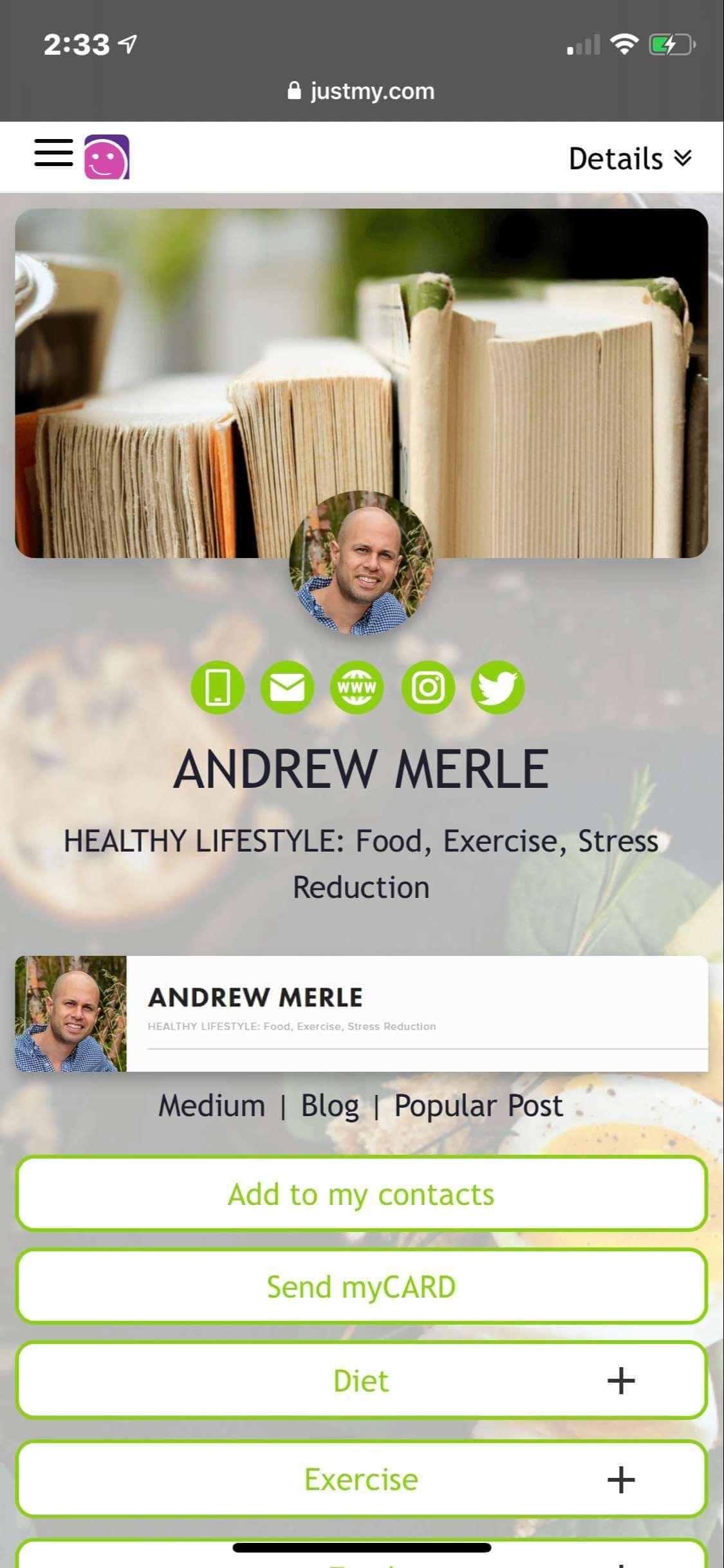 myCARD  |  Andrew Merle